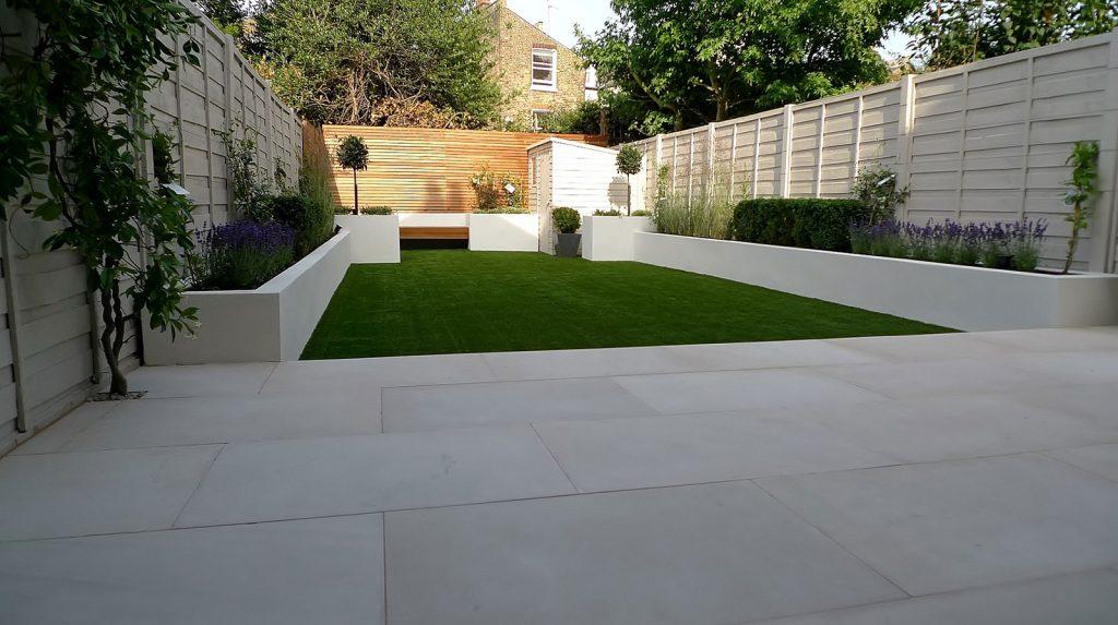 back garden artificial lawn